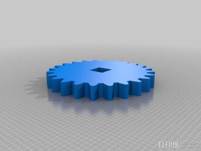 可转动的迷你书架 3D模型  图5