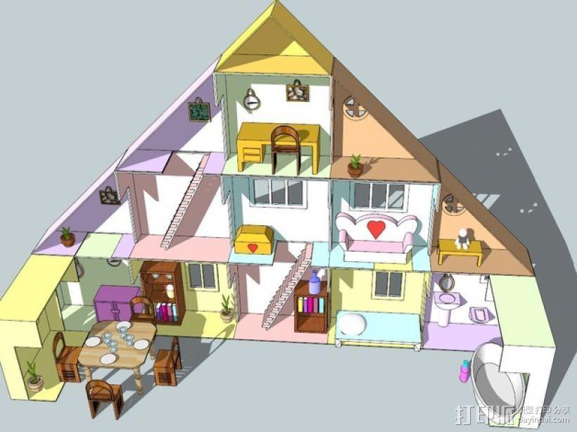 迷你玩具屋模型 3D模型  图1