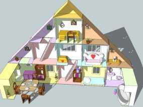 迷你玩具屋模型 3D模型