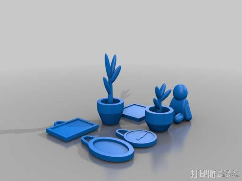 迷你玩具屋模型 3D模型  图6