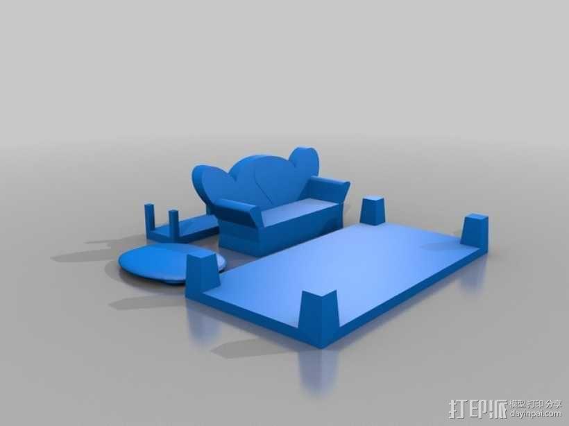 迷你玩具屋模型 3D模型  图7