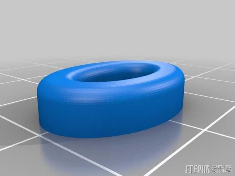 圆形的迷你鱼 3D模型  图2