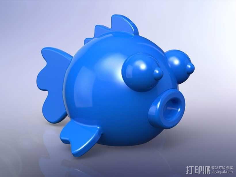 圆形的迷你鱼 3D模型  图1