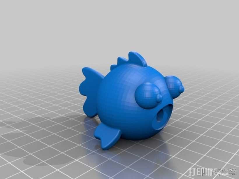圆形的迷你鱼 3D模型  图3