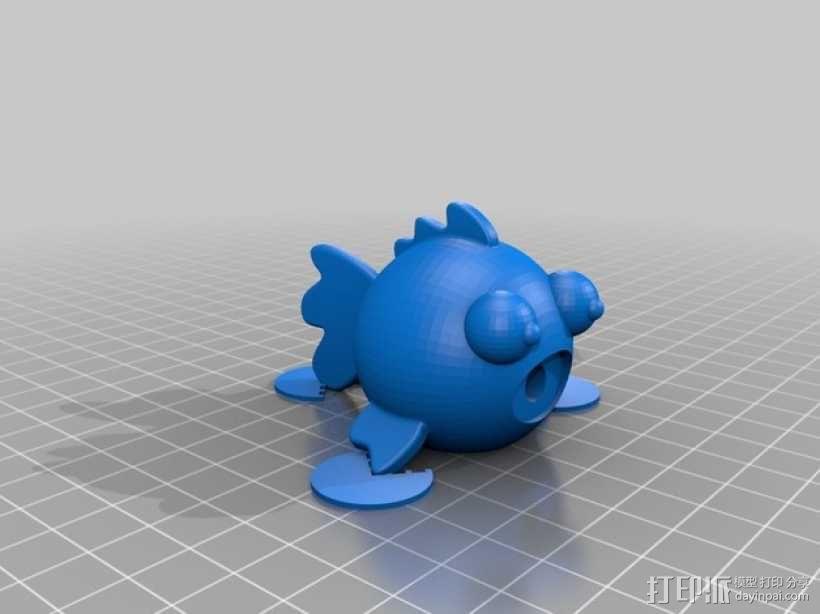 圆形的迷你鱼 3D模型  图4
