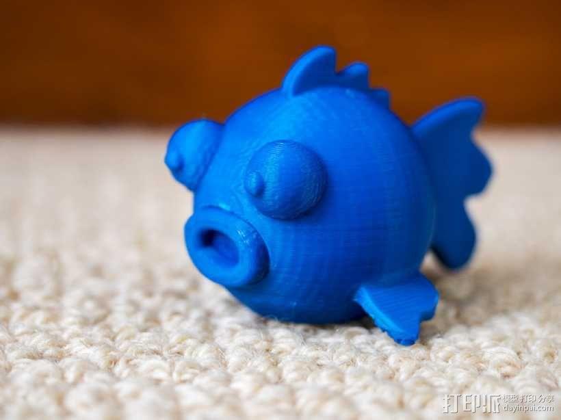 圆形的迷你鱼 3D模型  图5