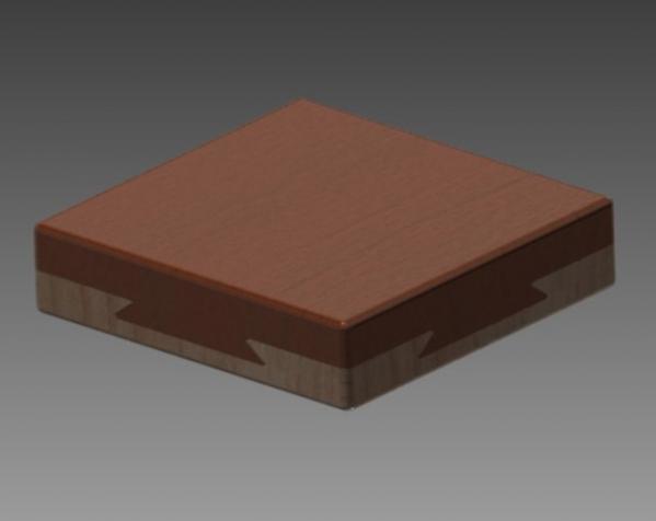 双层鸠尾榫拼图 3D模型  图2