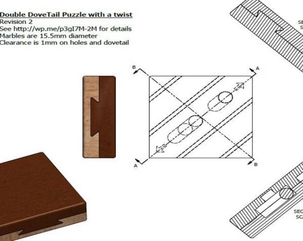双层鸠尾榫拼图 3D模型  图8