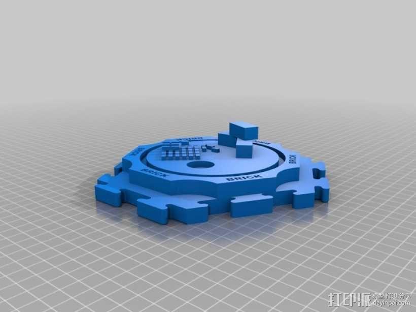 卡坦岛拓荒者瓦片 3D模型  图2