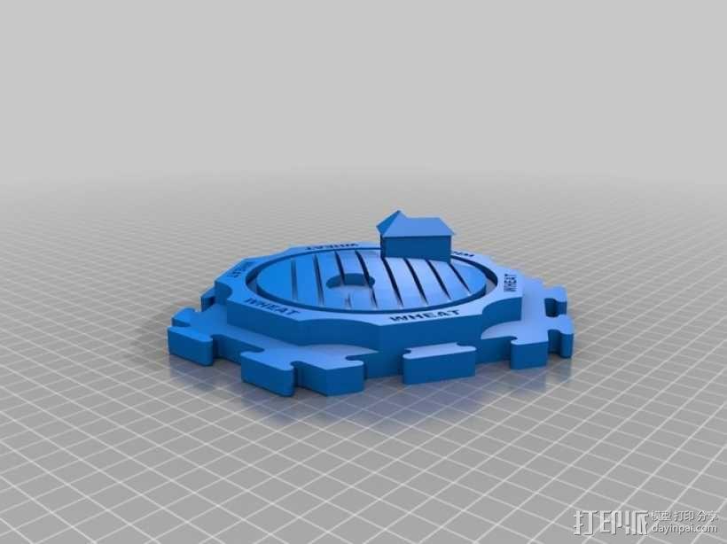 卡坦岛拓荒者瓦片 3D模型  图1