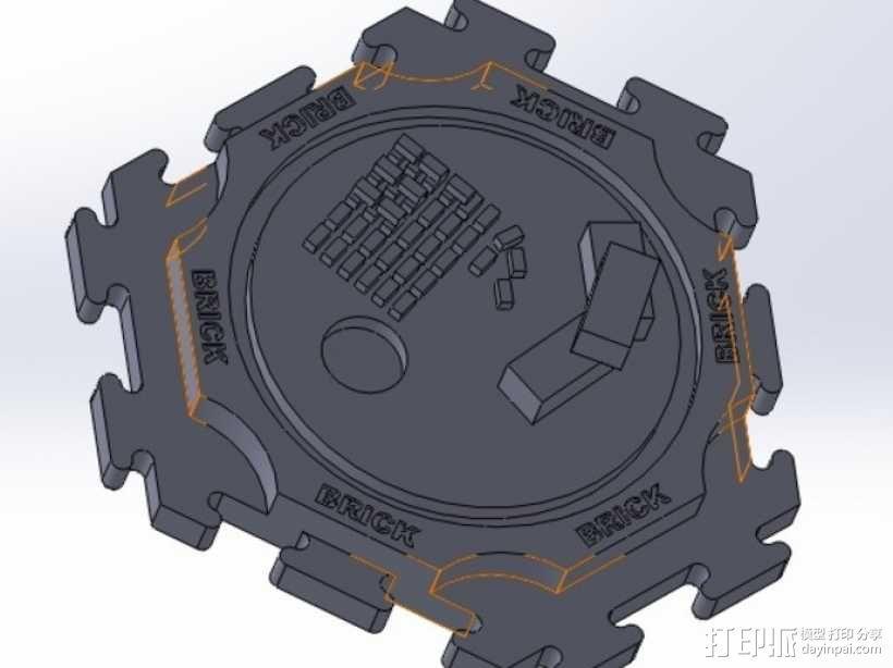 卡坦岛拓荒者瓦片 3D模型  图3