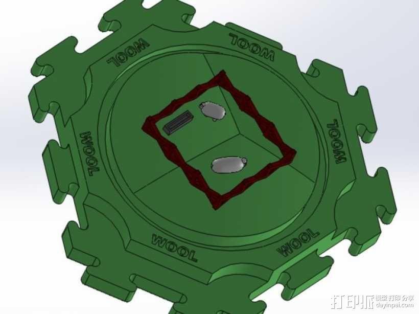 卡坦岛拓荒者瓦片 3D模型  图5