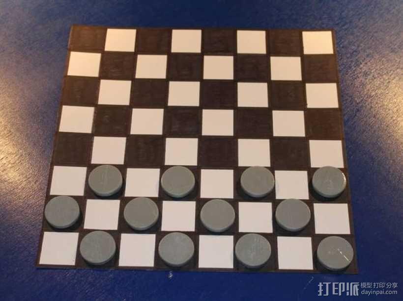 西洋跳棋模型 3D模型  图3
