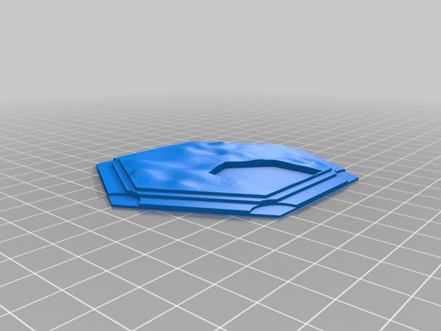 带有池塘的瓦片模型 3D模型  图3