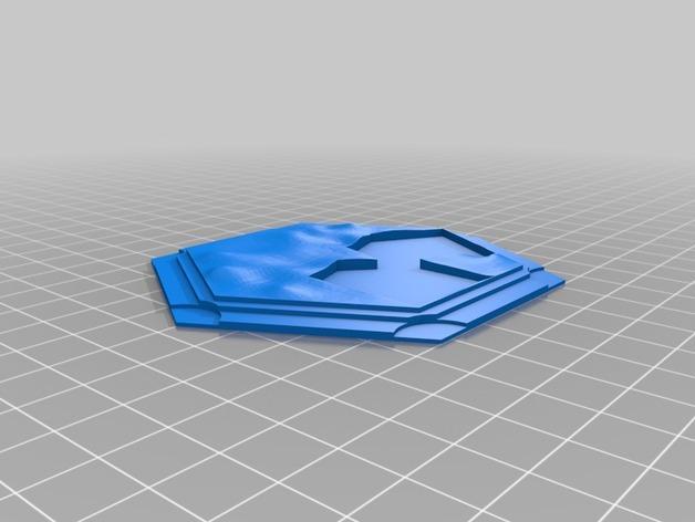 带有池塘的瓦片模型 3D模型  图4