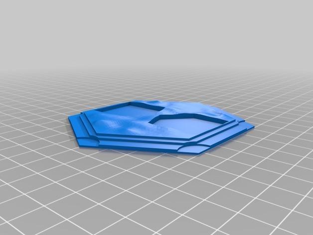 带有池塘的瓦片模型 3D模型  图6
