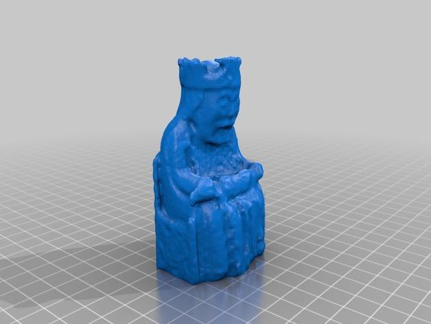 路易斯象棋:王棋 3D模型  图3