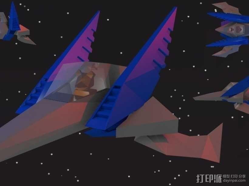 乐高Arwing宇宙飞船 3D模型  图1