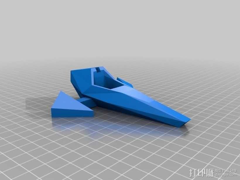 乐高Arwing宇宙飞船 3D模型  图2