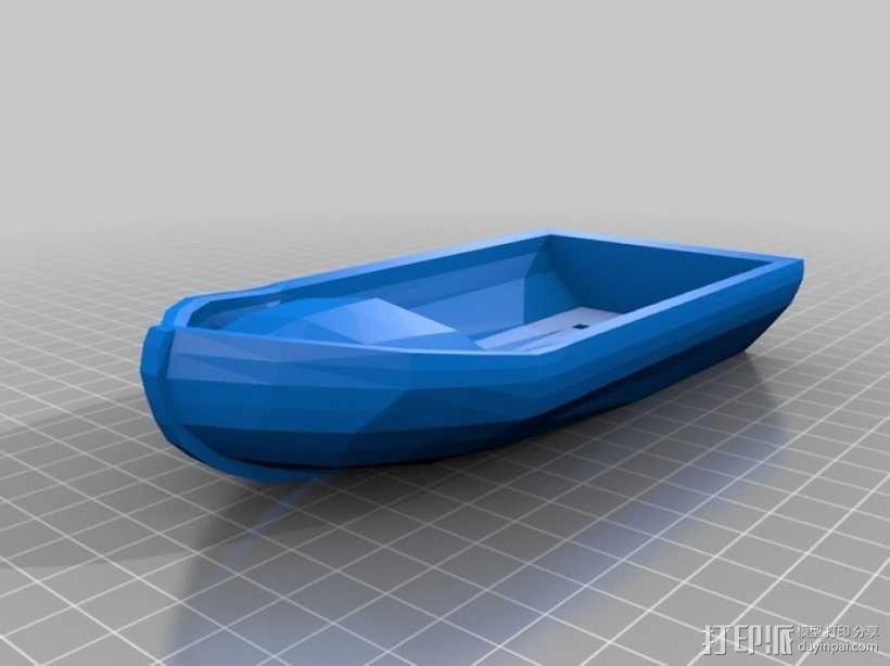 迷你汽艇模型 3D模型  图1