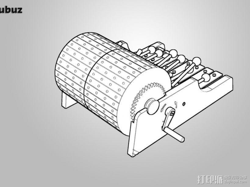 迷你木琴模型 3D模型  图4