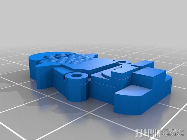 FlatMinis:矮人战士 3D模型  图5