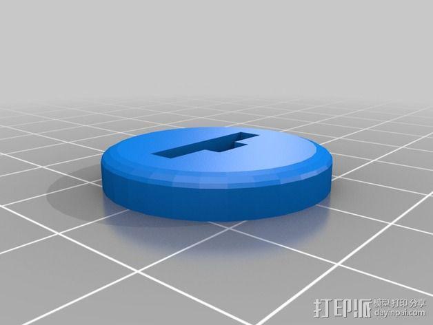 FlatMinis:矮人战士 3D模型  图3