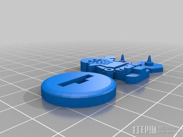 FlatMinis:矮人战士 3D模型  图6