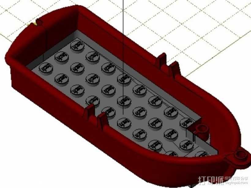 乐高玩具船 3D模型  图1