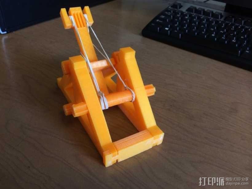 迷你投石机 3D模型  图1
