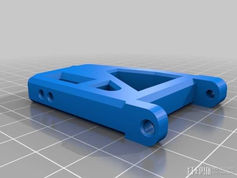 遥控赛车的低前悬吊结构臂 3D模型  图2