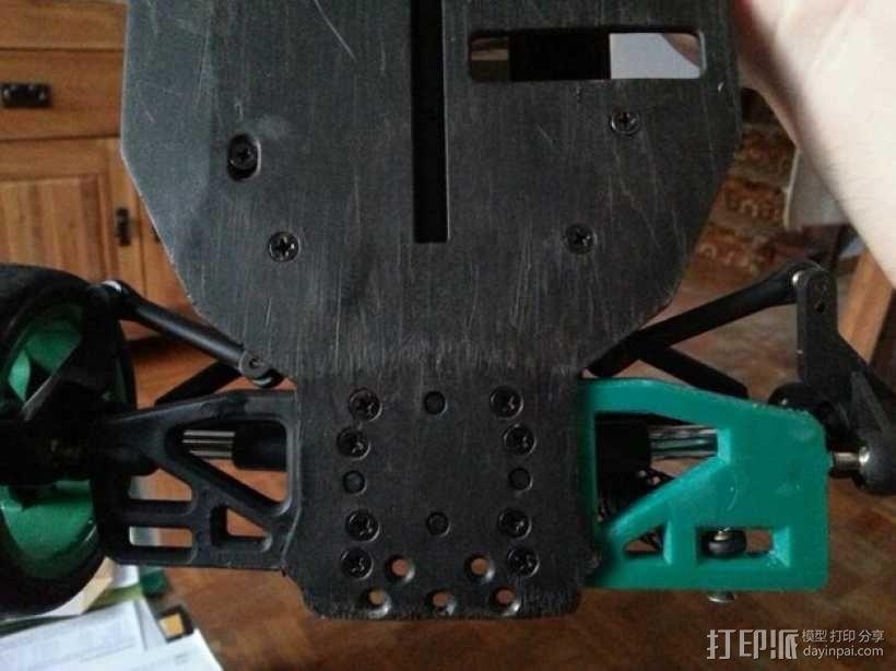 遥控赛车的低前悬吊结构臂 3D模型  图4