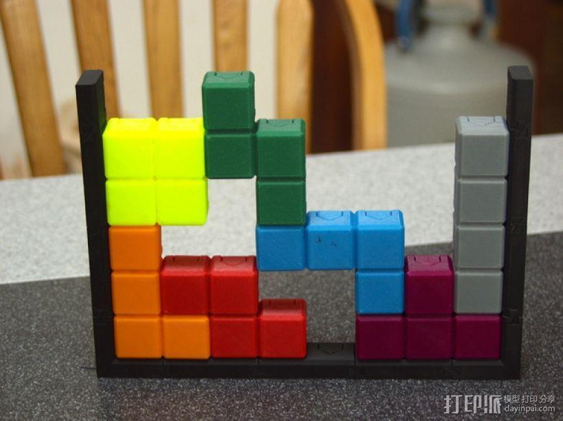 磁力俄罗斯方块玩具 3D模型  图1