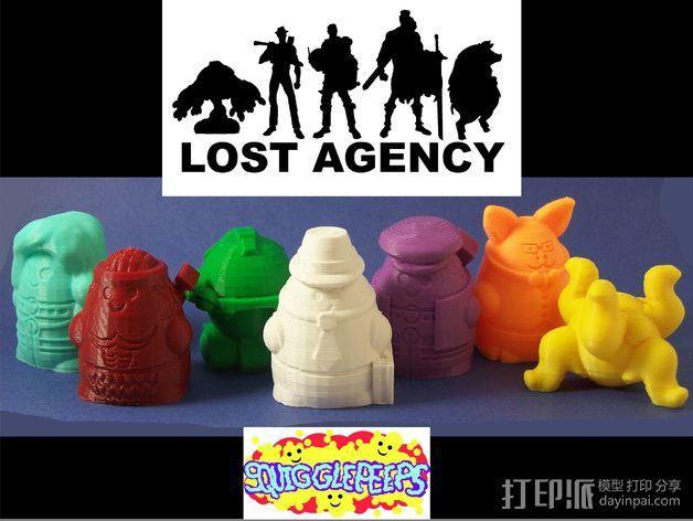 Squigglepeeps玩偶 3D模型  图1