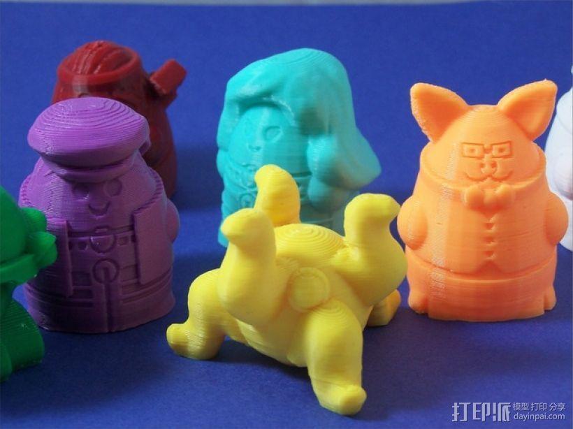 Squigglepeeps玩偶 3D模型  图2