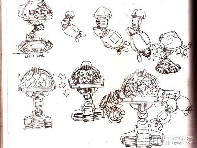 Squigglepeeps玩偶 3D模型  图9