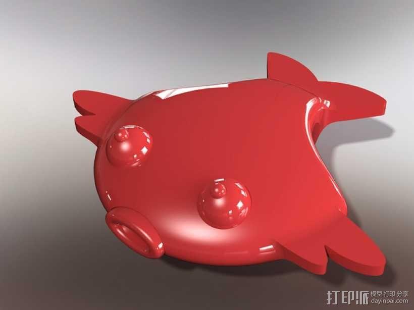 扁平状迷你鱼 3D模型  图1