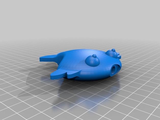扁平状迷你鱼 3D模型  图2