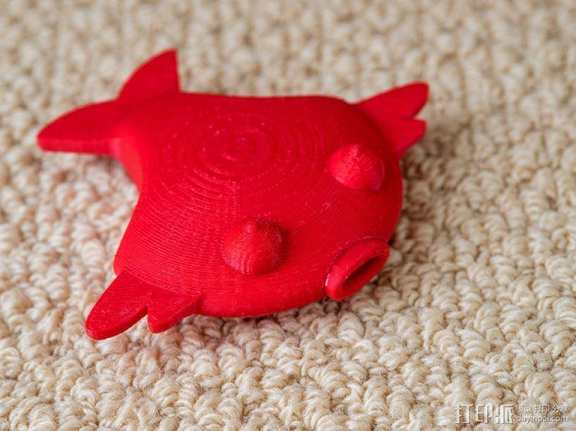 扁平状迷你鱼 3D模型  图4