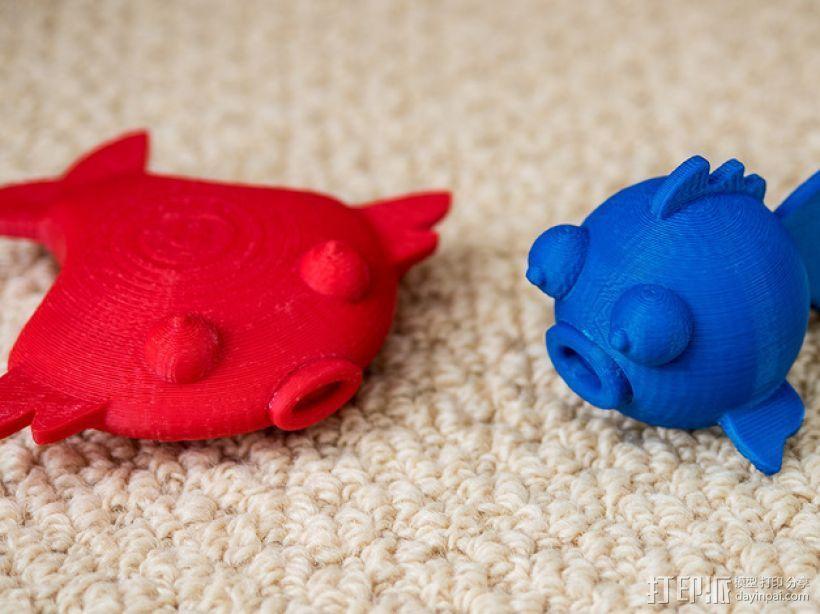 扁平状迷你鱼 3D模型  图5