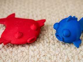 扁平状迷你鱼 3D模型