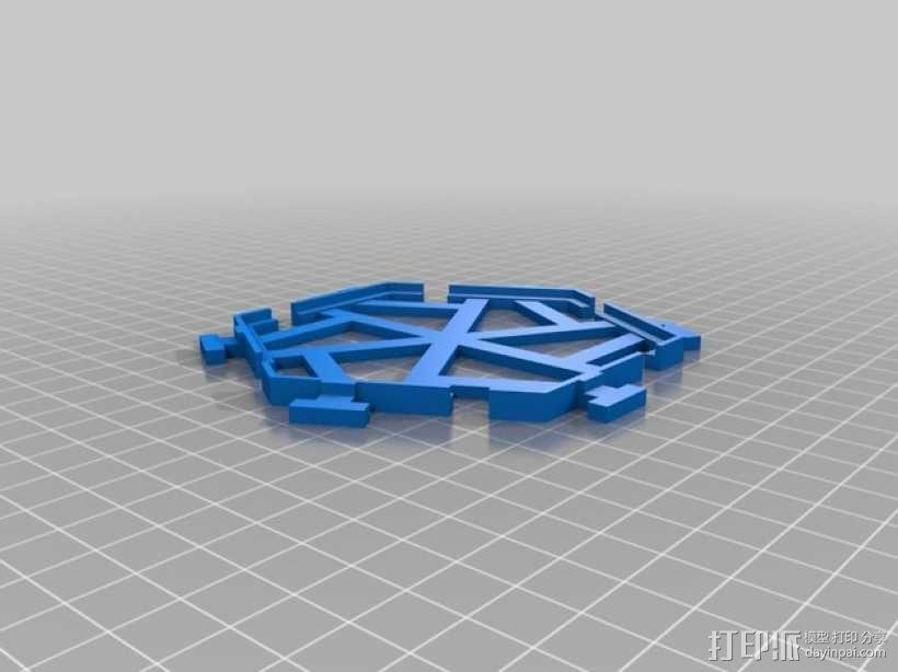五边形瓦片 3D模型  图1