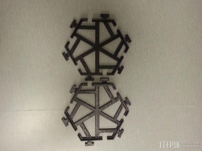 五边形瓦片 3D模型  图2