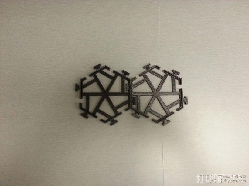 五边形瓦片 3D模型  图3