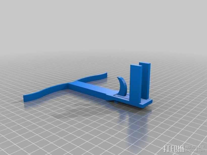 一次性打印的十字弓 3D模型  图1