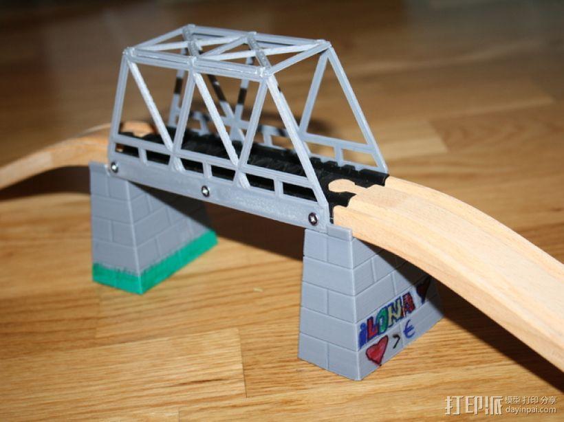 玩具火车桥 3D模型  图1