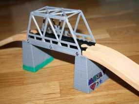 玩具火车桥 3D模型