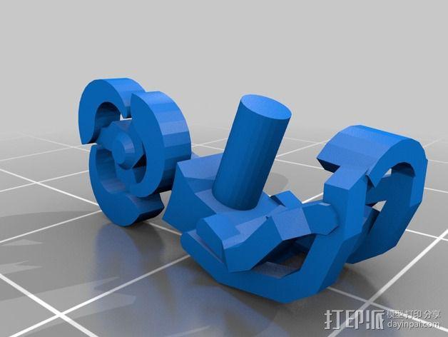 乐高玩偶天钩 3D模型  图2