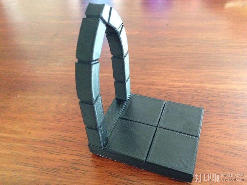 边缘平滑的拱门模型 3D模型  图1