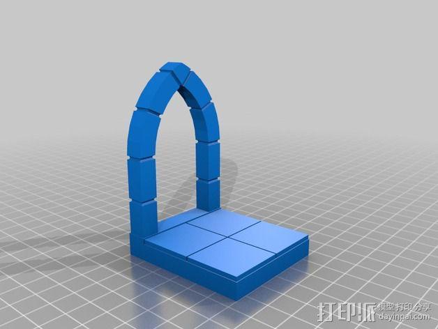 边缘平滑的拱门模型 3D模型  图2